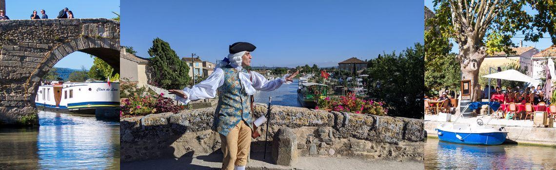 Visite-théâtre Canal du Midi Mercredis au Somail